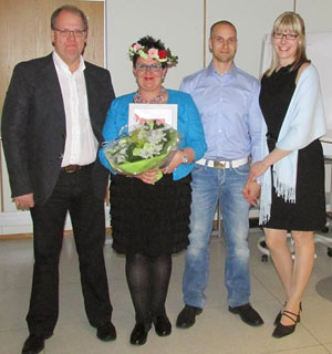 Eija Ahvenjärvi perheineen